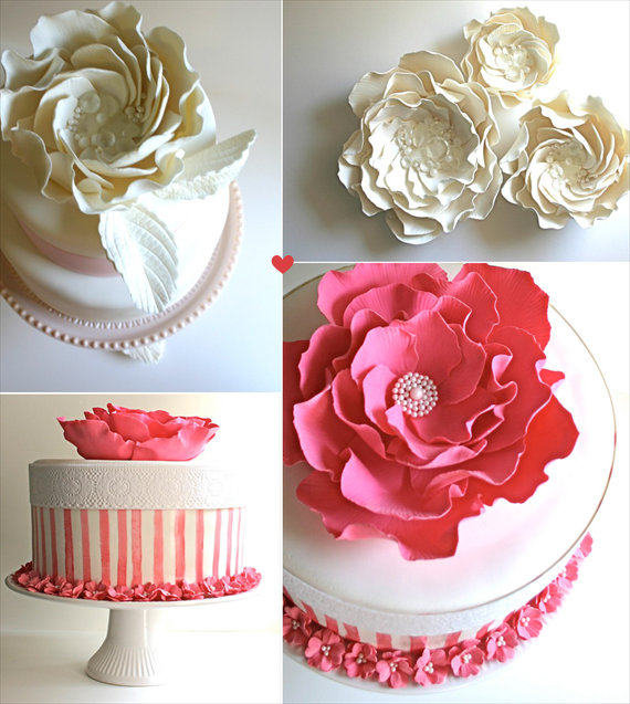 Cake Topper Alternative: Edible Sugar Roses