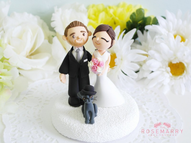 cake topper with cat