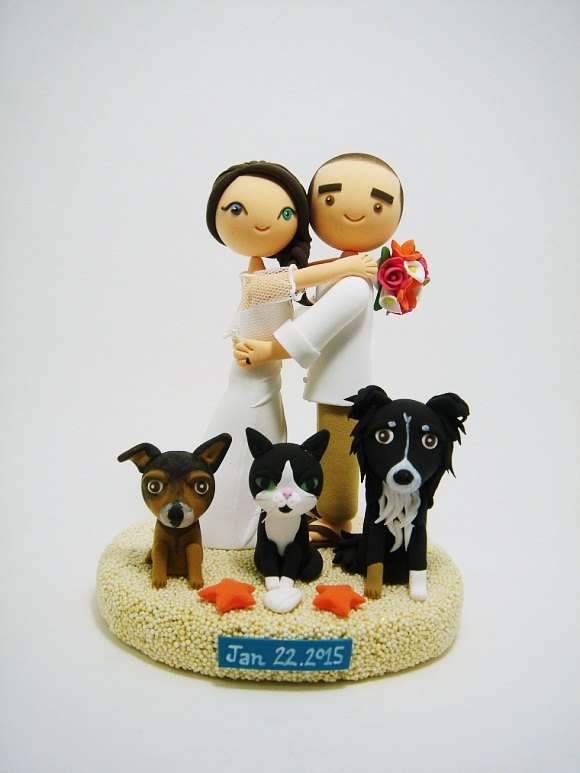 cake-topper-with-dog-two-dogs-one-cat