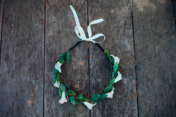Bridal Hair Crowns - calla lily