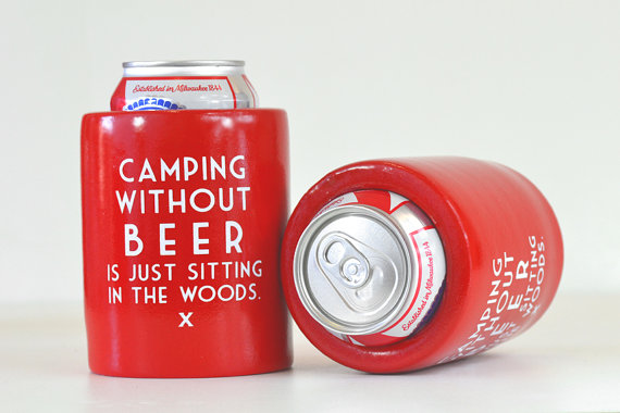camping without beer koozies