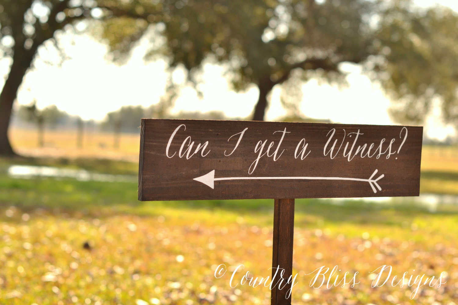 can i get a witness wedding sign by country bliss designs | signs entrance weddings | http://emmalinebride.com/decor/signs-entrance-weddings/