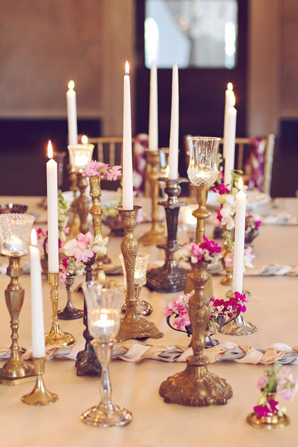 candlesticks as vintage decor