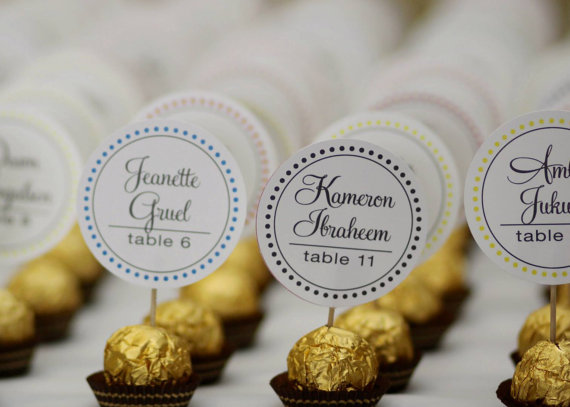 candy place card favors