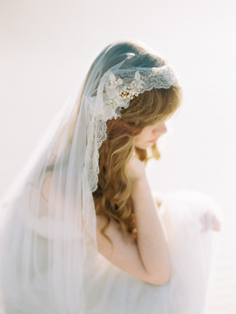 cathedral length mantilla veil | mantilla veils weddings | by SIBO Designs | Photo: Brumley & Wells