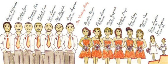 ceremony program wedding party illustration