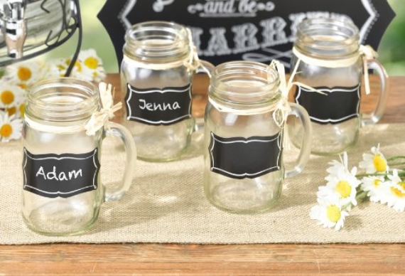 chalkboard mason jar mugs