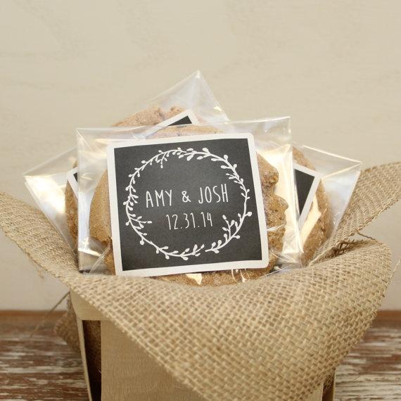 chalkboard wedding favor cookie bags