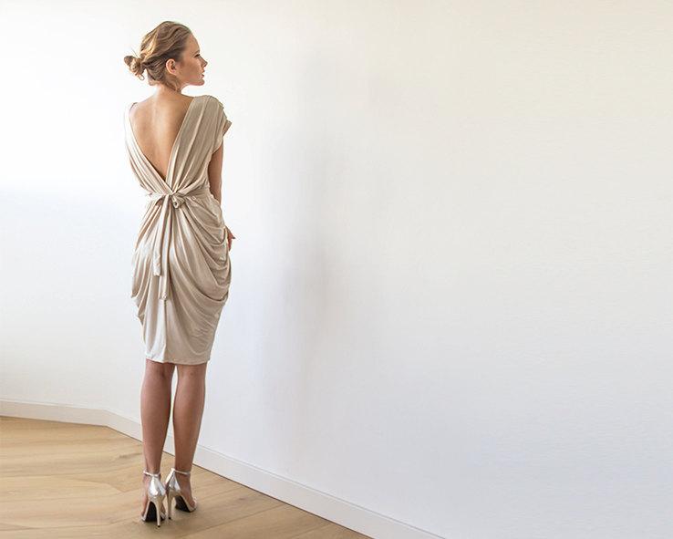 champagne maxi dress short