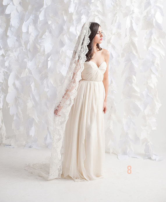 Wedding Veil Styles: The Ultimate Guide (Part One) - chapel length veil by tessa kim, photo by candice benjamin