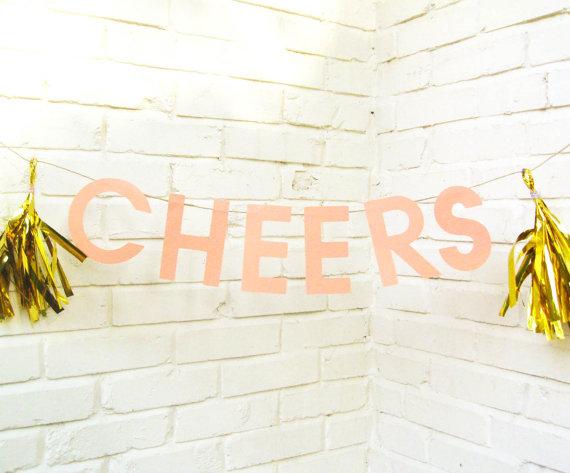 cheers - wedding banners