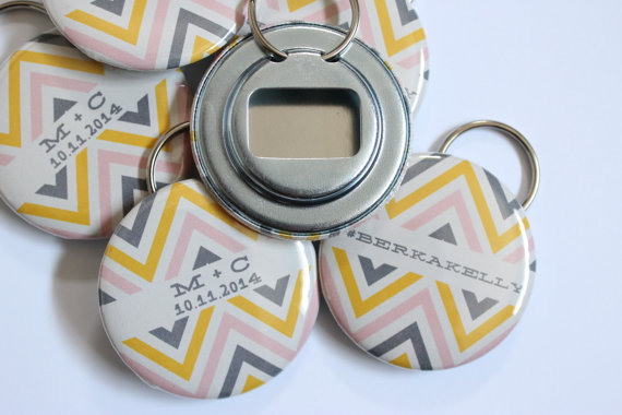 chevron bottle opener wedding favors