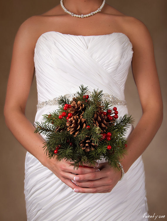christmas wedding bouquet