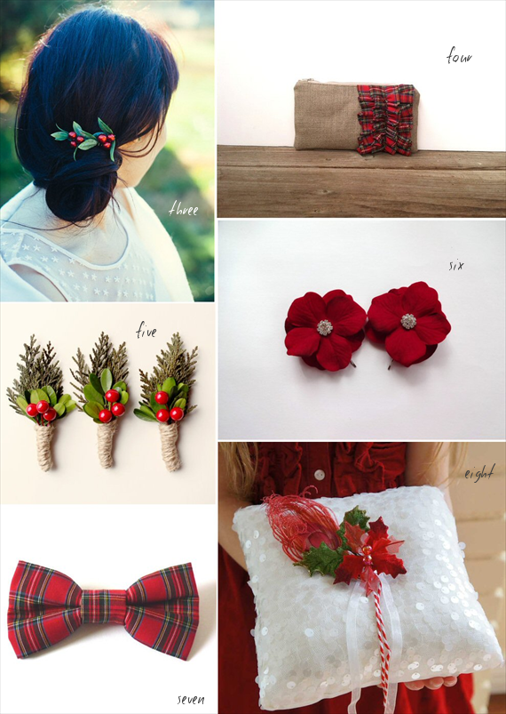 christmas wedding ideas accessories