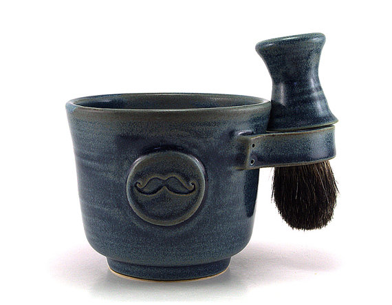 clay shaving mug via 27 Amazing Anniversary Gifts by Year http://emmalinebride.com/gifts/anniversary-gifts-by-year/