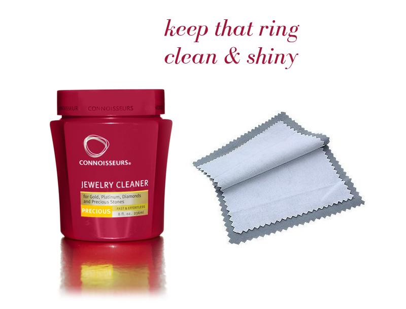 clean that ring | via https://emmalinebride.com/bridal/engagement-ring-care/