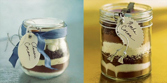 DIY Mason Jar Gifts - cocoa in a jar