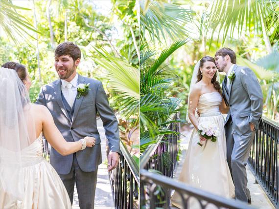 Filda Konec Photography - Hemingway House Wedding - bride and groom hug after first look