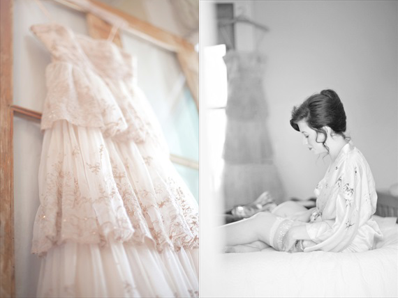 Kali Norton Photography - Mandeville Spring Wedding - wedding dress with bride getting ready