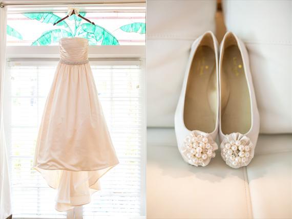 Filda Konec Photography - Hemingway House Wedding - bride's wedding dress and shoes