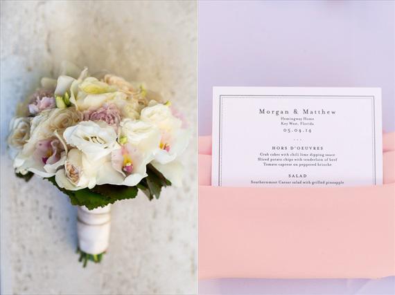 Filda Konec Photography - Hemingway House Wedding - bridal bouquet and wedding invitation