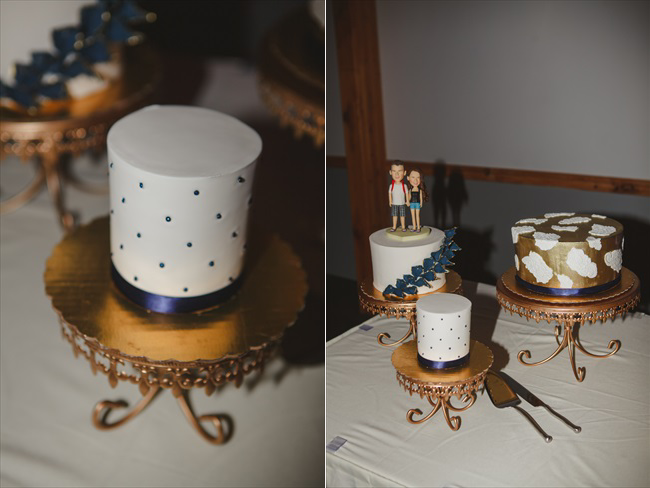 blue and gold theme for wedding colors