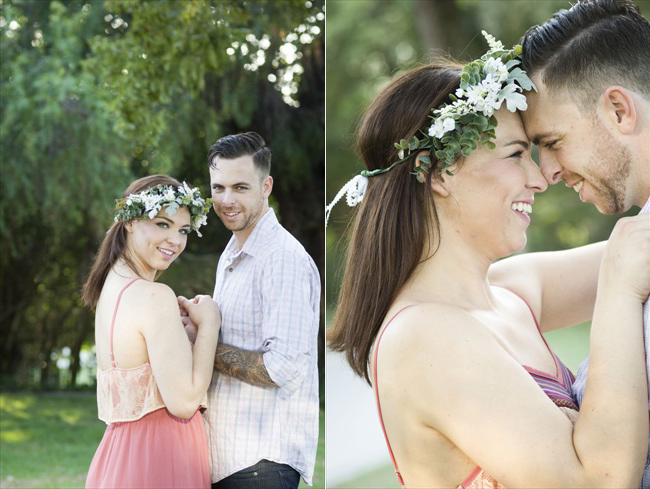 romantic photos of engaged couple at their Santa Fe Springs engagement session