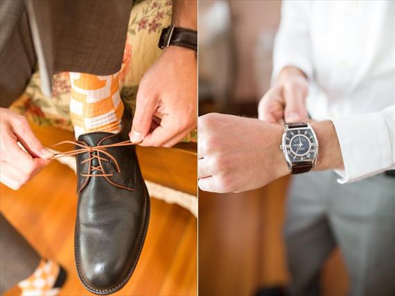 Filda Konec Photography - Hemingway House Wedding - groom's shoes, socks, and watch