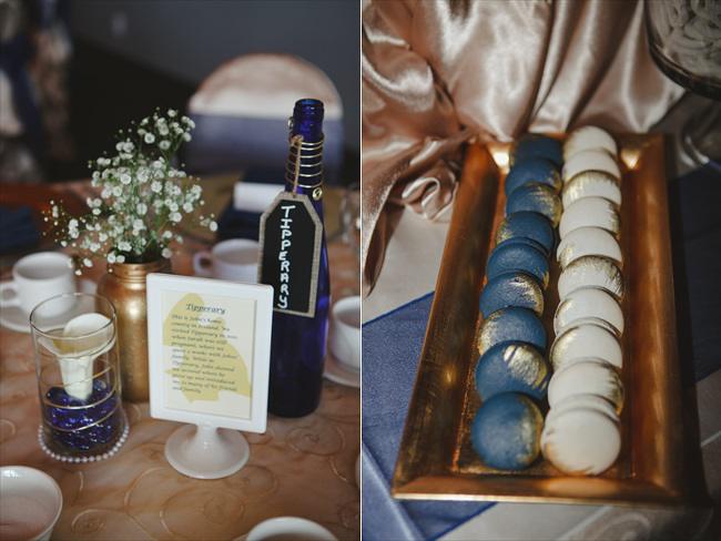 blue and gold wedding theme