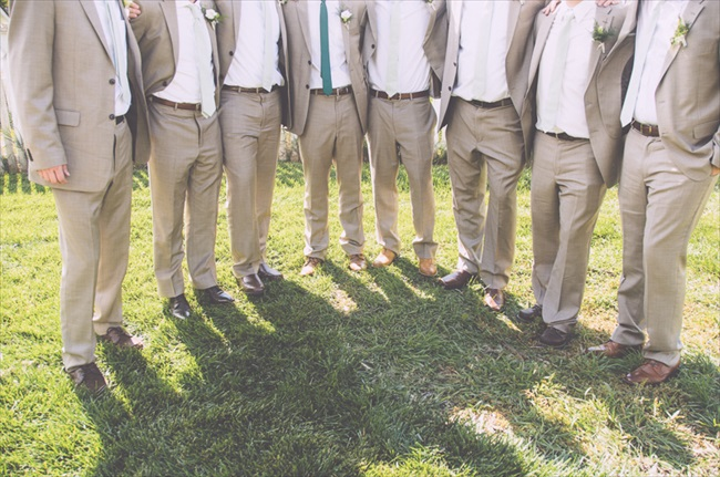 The Groomsmen | Photo: Searching for the Light Photography LLC | via https://emmalinebride.com/real-weddings/colorado-chic-wedding-kendall-brian/