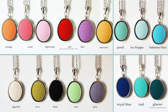 colorful initial necklace pendants