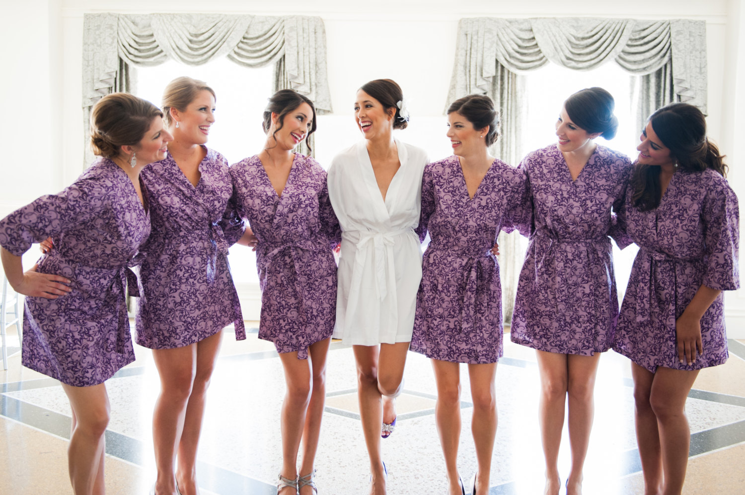 colorful kimono style bridesmaid robes