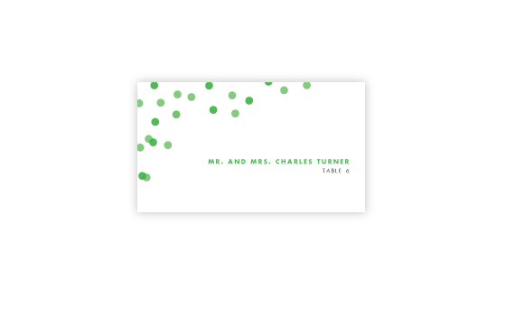 how to coordinate your wedding - confetti escort card (by dear lc) width=570 height=351 class=
