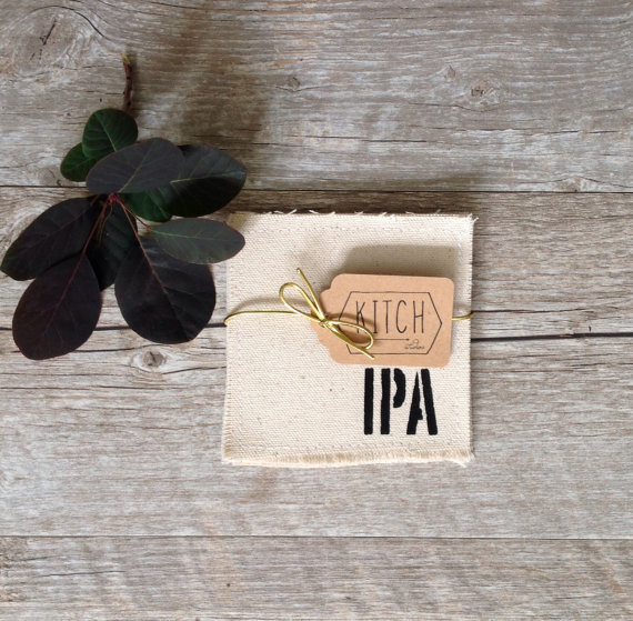 cool beer coasters linen