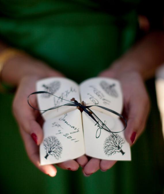 Are Wedding Programs Required? (via EmmalineBride.com) - ceremony programs by alchemy love, photo by stephanie a smith photography