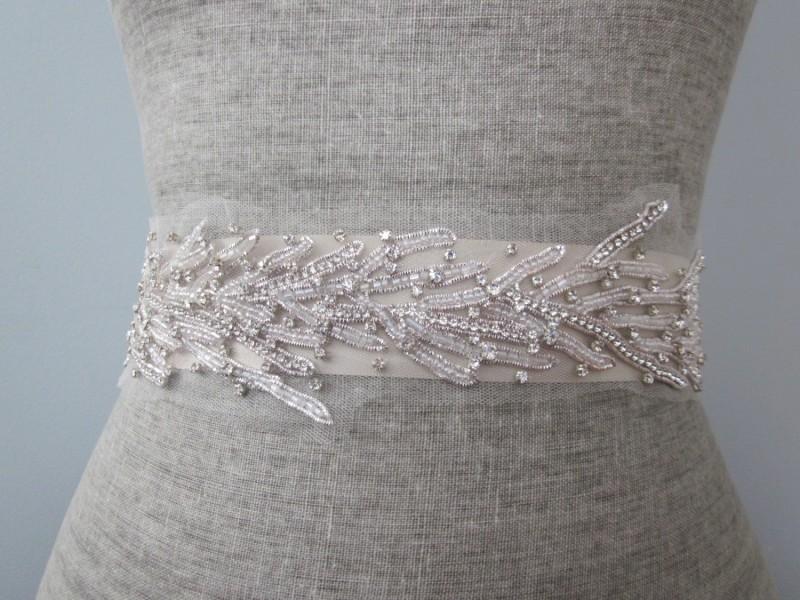 coral inspired sash