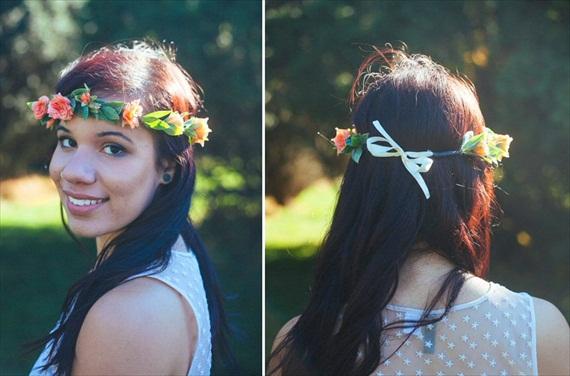 Bridal Hair Crowns - coral