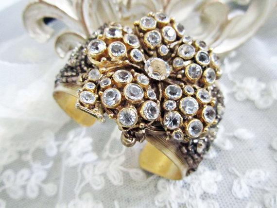 crystal rhinestone bridal cuff bracelet