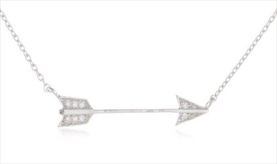 cubic zirconia arrow necklace via 20+ Boho Arrow Wedding Ideas