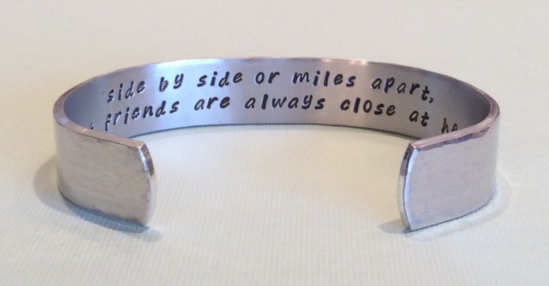 cuff bracelet with sweet message inside