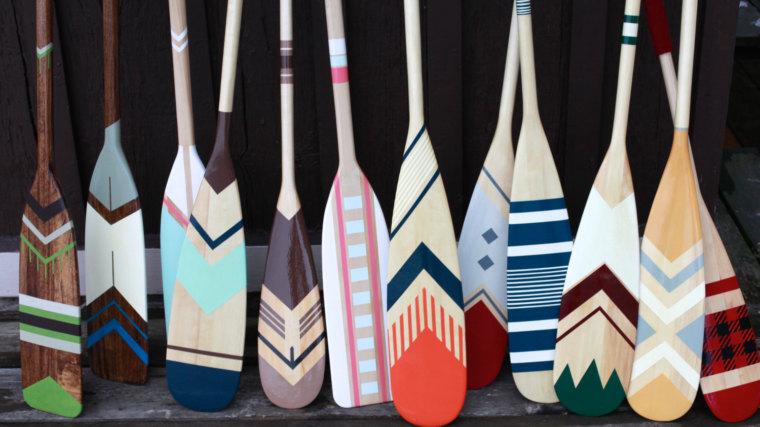 custom canoe paddle