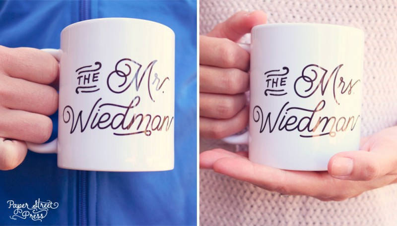 custom coffee mugs for mr and mrs