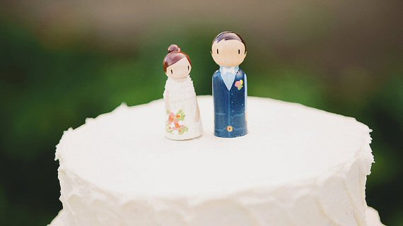 custom couple cake topper via Top 10 Non Registry Wedding Gifts