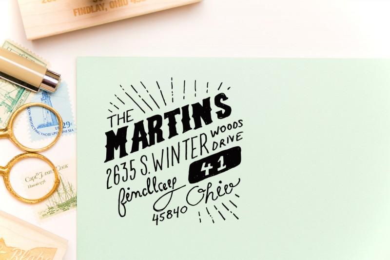 whimsical | return address stamps etsy