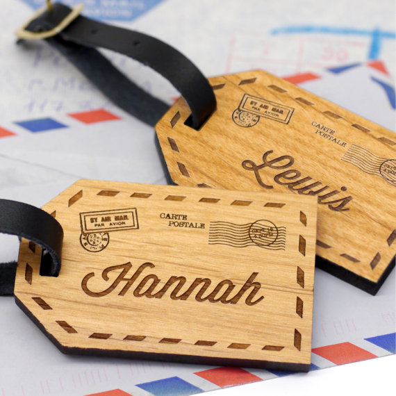 custom luggage tag | bridesmaid gift ideas http://emmalinebride.com/gifts/bridesmaid-gift-ideas/