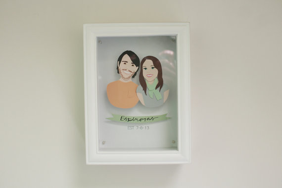 custom couple art via Top 10 Non Registry Wedding Gifts