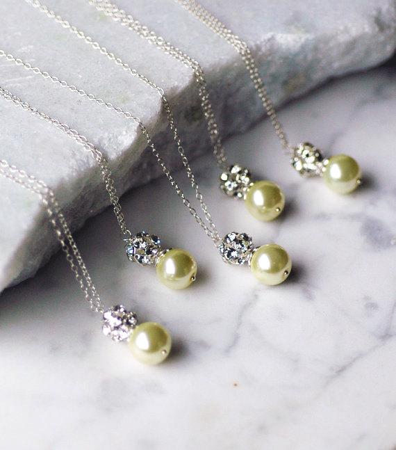 custom color pearl drop necklace