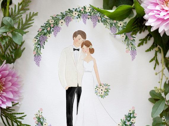 custom watercolor illustration portrait