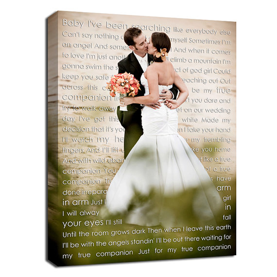 Custom Wedding Canvas Art