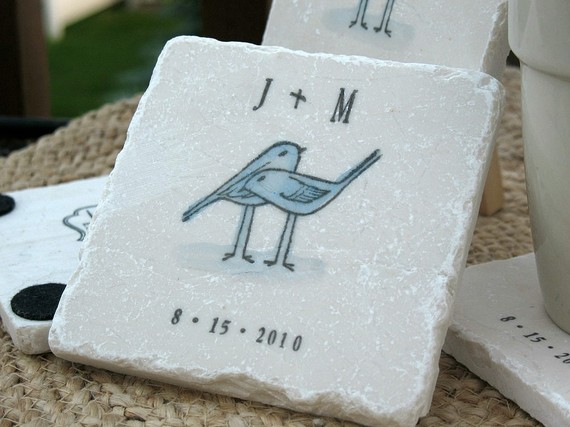 custom wedding coaster favors